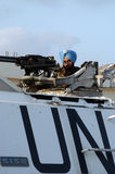 De Tank van de V.N. in Libanon Royalty-vrije Stock Afbeeldingen
