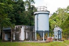 De tank van de wateropslag stock afbeelding