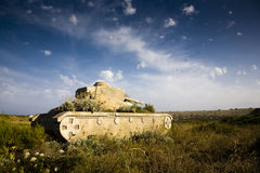 De tank van het leger met bloemen Royalty-vrije Stock Afbeeldingen