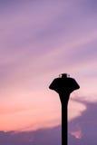 De tank van het silhouetwater Stock Afbeeldingen