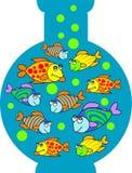 De tank van vissen stock illustratie