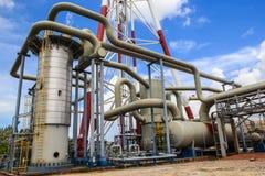 De tankproductie van de raffinaderijindustrie stock afbeeldingen