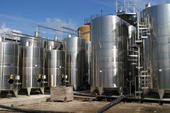 De tanks van de fabriek royalty-vrije stock foto