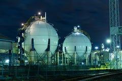 De tanks van de gasopslag Royalty-vrije Stock Foto