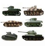 De tanks van de oorlog Stock Afbeeldingen