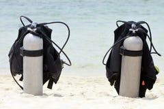 De Tanks van de scuba-uitrusting stock afbeelding