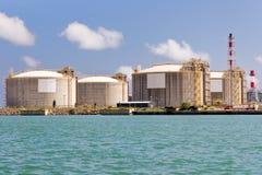 De Tanks van het LNG Stock Foto's