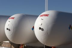 De tanks van het propaan Royalty-vrije Stock Afbeeldingen