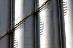 De tanks van het staal Stock Afbeeldingen