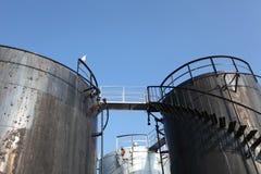 De tanks van Stroage Stock Afbeelding