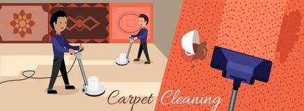 De tapijt schoonmakende dienst Stock Foto