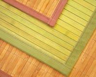 De tapijten van het bamboe stock afbeelding