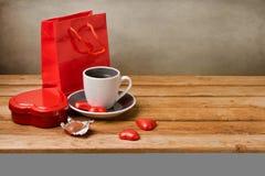De tarjeta del día de San Valentín todavía del día vida Fotografía de archivo
