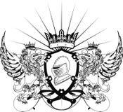 De tatoegering tshirt2 van het Gryphonwapenschild Stock Afbeelding