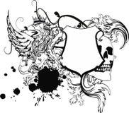 De tatoegering tshirt2 van het Gryphonwapenschild Royalty-vrije Stock Afbeelding