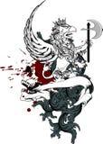 De tatoegering tshirt3 van het Gryphonwapenschild Royalty-vrije Stock Fotografie