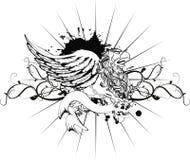 De tatoegering tshirt4 van het Gryphonwapenschild Stock Foto