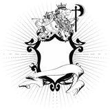 De tatoegering tshirt4 van het Gryphonwapenschild Stock Fotografie