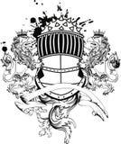 De tatoegering tshirt6 van het Gryphonwapenschild Stock Foto