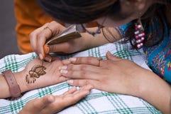 De Tatoegering van de henna Stock Afbeelding