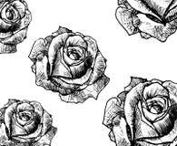 De tatoegering van de lijnkunst nam knop toe Royalty-vrije Stock Fotografie