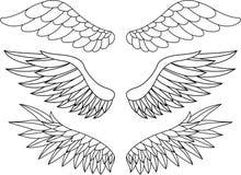 De tatoegering van de vleugel Stock Afbeeldingen