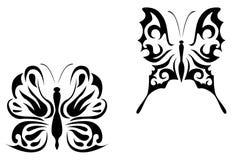 De tatoegering van de vlinder royalty-vrije illustratie
