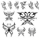 De tatoegering van de vlinder. Royalty-vrije Stock Afbeelding