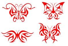 De tatoegering van de vlinder Stock Fotografie