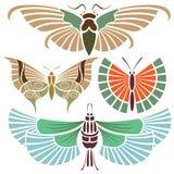 De tatoegering van de vlinder stock illustratie