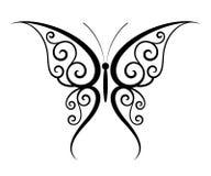 De tatoegering van de vlinder Royalty-vrije Stock Afbeeldingen