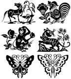 De tatoegering van dieren vector illustratie