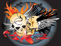 De tatoegering van het de schedelpatroon van de kunst Royalty-vrije Stock Foto