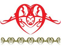 De tatoegering van het hart stock illustratie