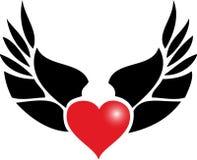 De tatoegering van het hart royalty-vrije illustratie