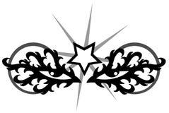 De tatoegering van ogen royalty-vrije illustratie