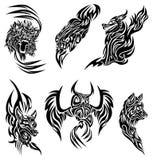 De tatoegering van wilde dieren Royalty-vrije Stock Afbeeldingen