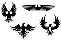 De tatoegeringen van de adelaar royalty-vrije illustratie