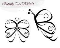 De tatoegeringen van de vlinder Stock Foto's