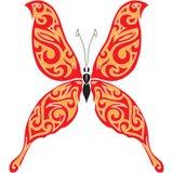 De tatoegeringsontwerp van de vlinder Stock Afbeeldingen