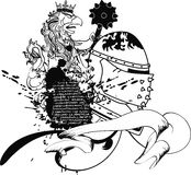 De tatoegeringst-shirt van het Gryphonwapenschild Royalty-vrije Stock Fotografie