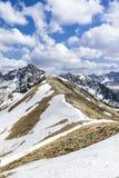 De Tatra bergen Fotografering för Bildbyråer