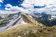 De Tatra bergen Arkivbild