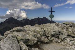 De Tatra-Bergen Grote rotsachtige pieken Royalty-vrije Stock Fotografie