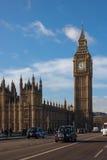 De taxi en Big Ben van Londen Stock Foto's