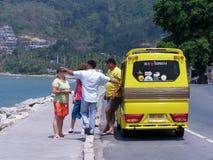 De taxi Phuket van Mini Truck Tuk tuk Stock Foto's