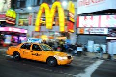 De Taxi van de Stad van New York, gele cabine Royalty-vrije Stock Foto's