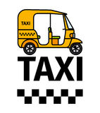 De taxi van de Tuktukriksja stock illustratie