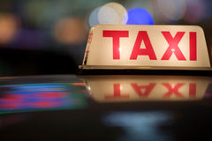 De Taxi van Hongkong Royalty-vrije Stock Foto
