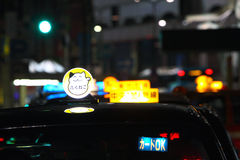 De Taxi van Japan Stock Foto